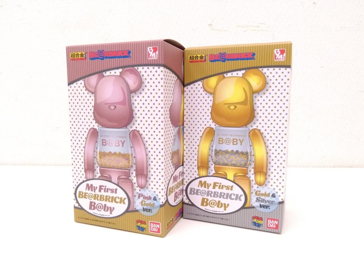 MY FIRST BE@RBRICK B@BY GOLD & SILVER Ver./PINK & GOLD Ver. 200%