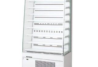 超薄型の冷凍機内蔵型オープンショーケース